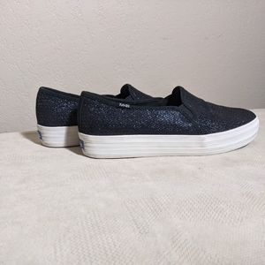 Keds size 10 Fashion Sneakers Sequins Navy Blue
